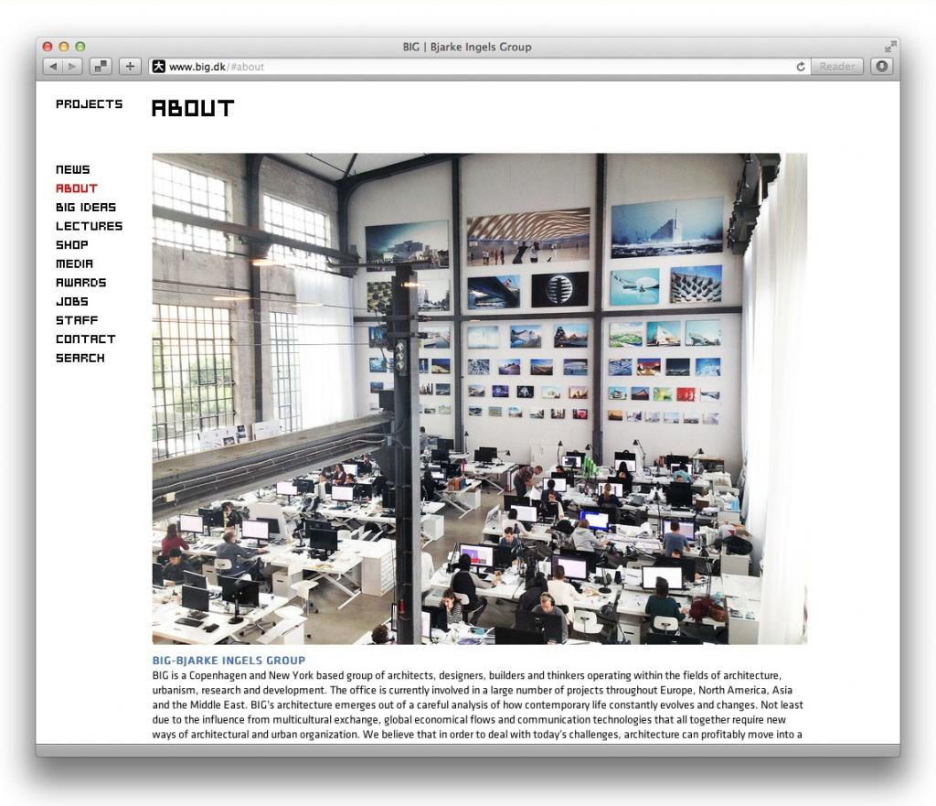Best Practice-Beispiel: Mitarbeiterpräsentation auf Architekten-Websites (Screenshot)