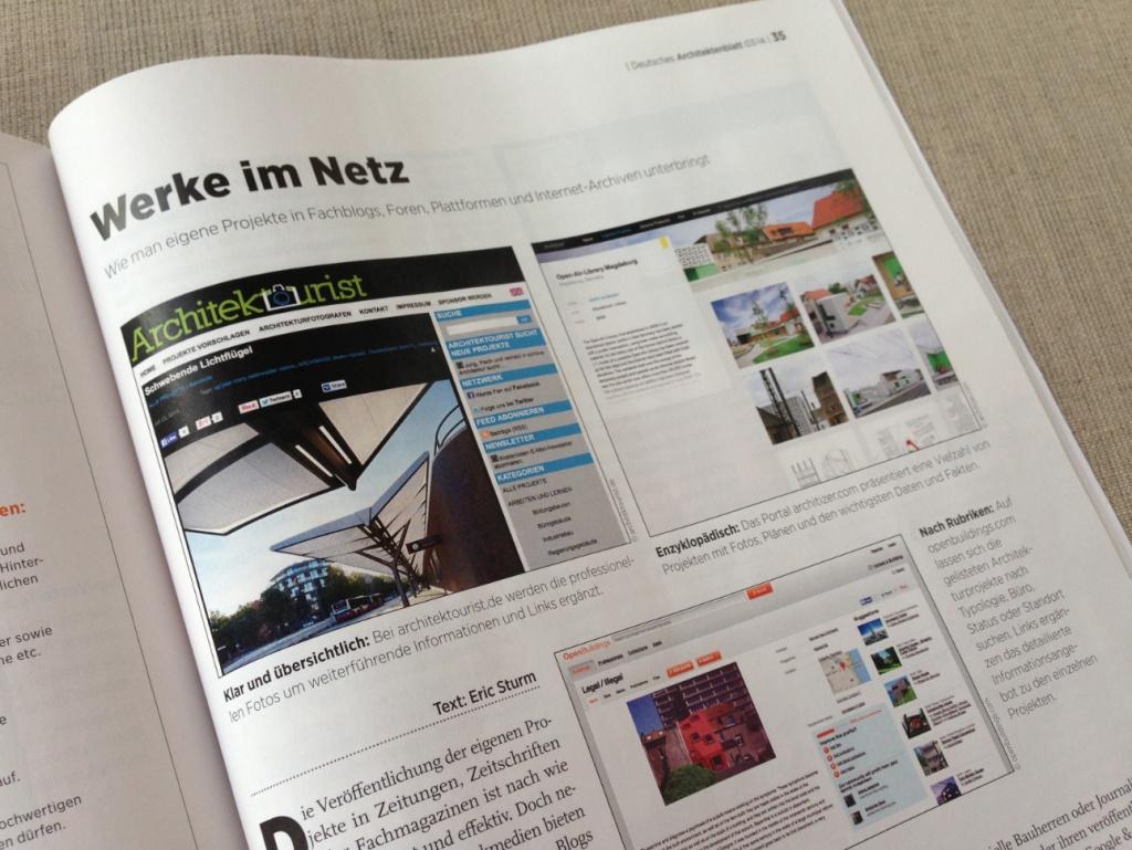 Fachartikel zu Marketing im Netz von Eric Sturm (Deutsches Architektenblatt, 03/2014)