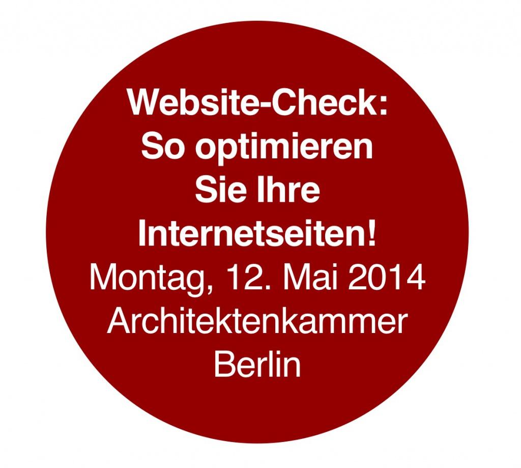 """Internet-Seminar """"Website optimieren"""" (Architektenkammer Berlin)"""