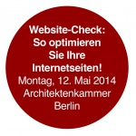"Internet-Seminar ""Website optimieren"" (Architektenkammer Berlin)"