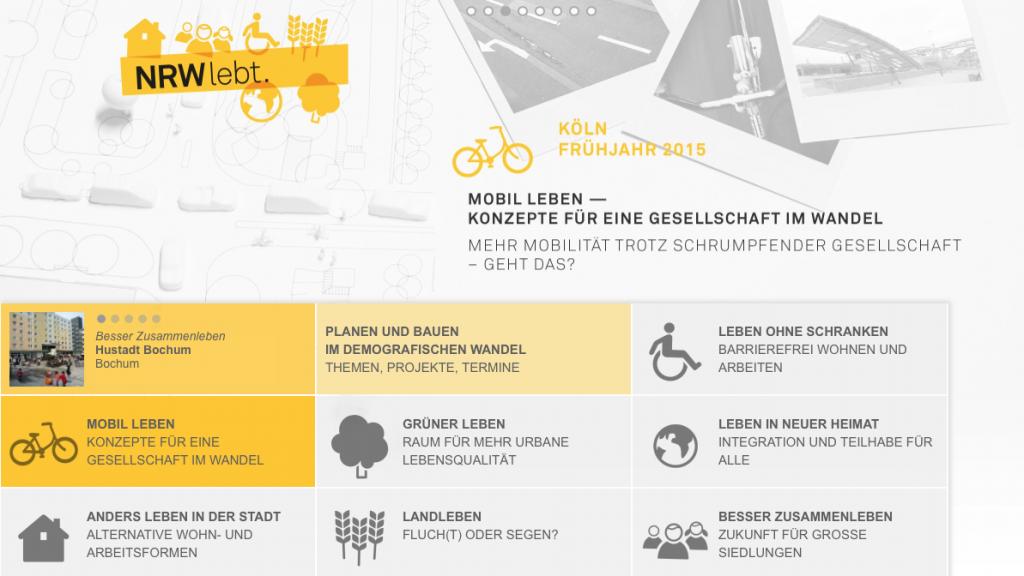 Aktions-Website NRW lebt (Screenshot Mai 2014)