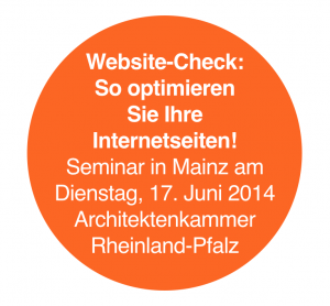 Website-Check: Seminar in Mainz (17.06.2014)