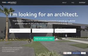 Screenshot von FindAnArchitect.com (Startseite)