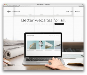 Squarespace (Screenshot, Marktüberblick Website-Baukästen)