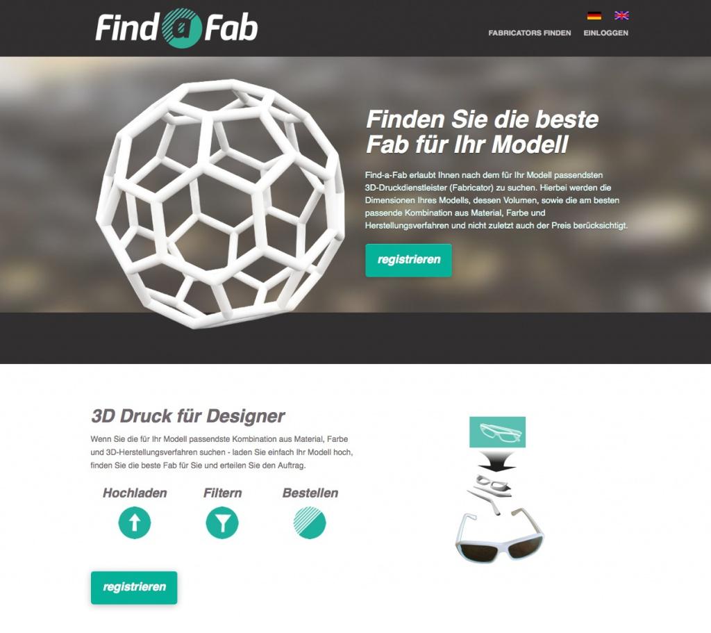 Auf Find-a-Fab.com können Architekten und Designer 3D-Druckdienstleister vergleichen