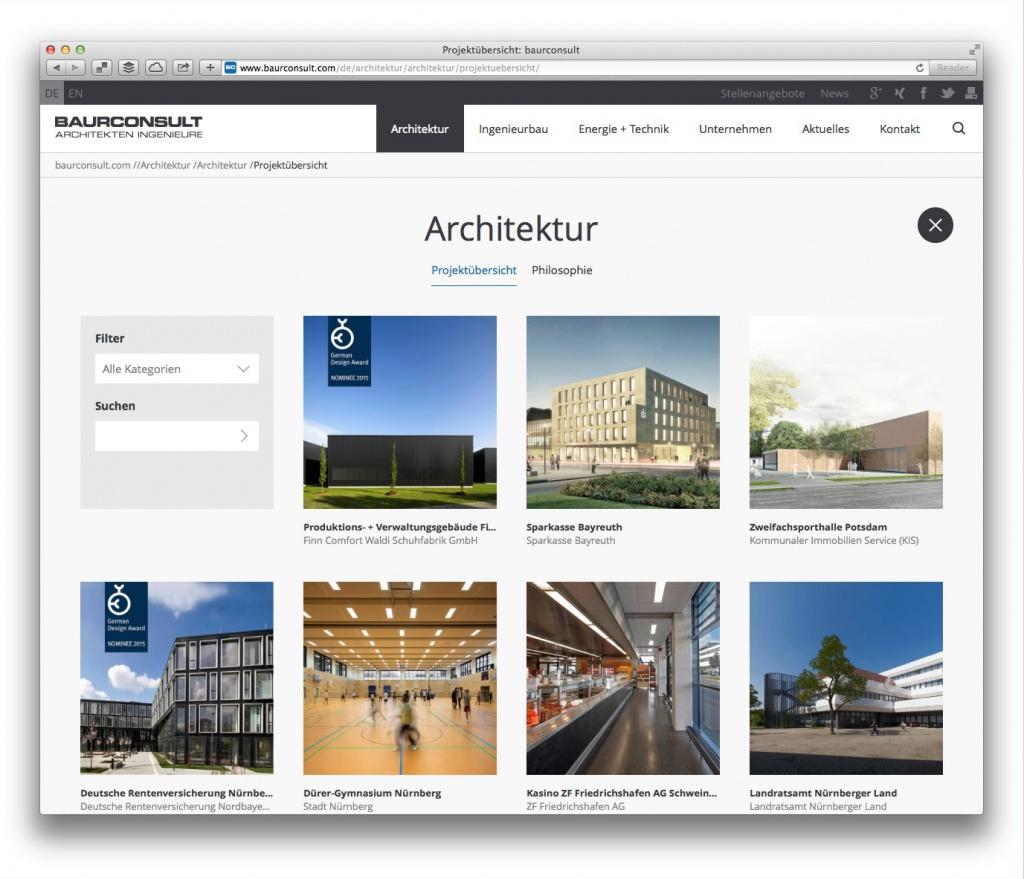 """Projektübersicht """"Architektur"""", Baurconsult Architekten Ingenieure, Haßfurt"""