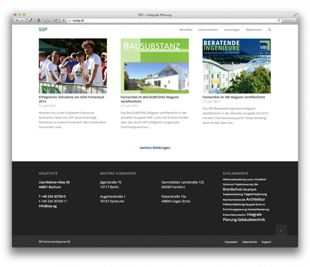 Expertise und aktives Büro-Leben: Aktuelle Meldungen von SSP