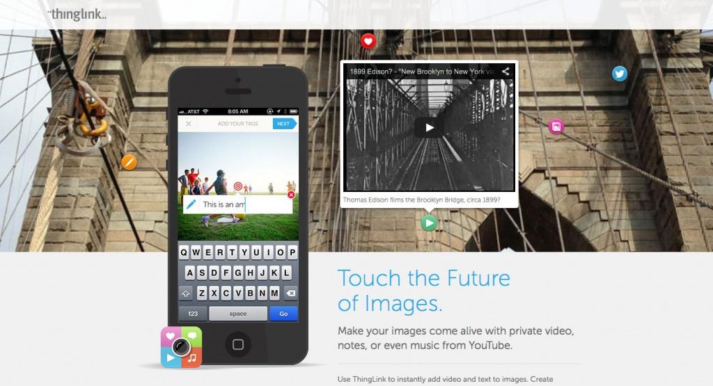 Für unterwegs: Die Smartphone-App von thinglink (Screenshot)