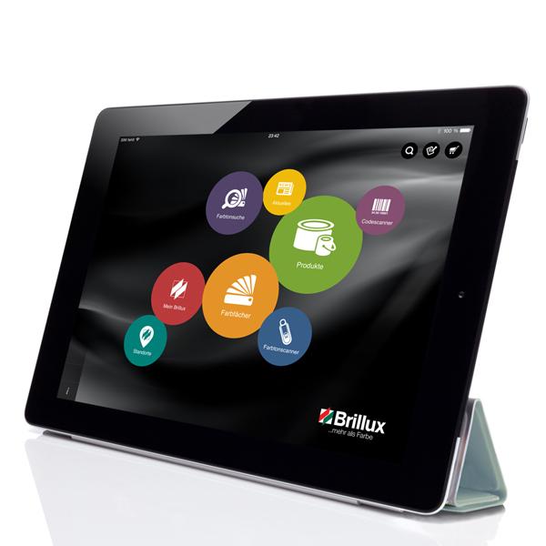Die Brillux 3.0 App auf dem iPad