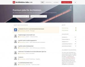 Auf Architekten-Jobs.com können Planungsbüros ihre Stellenangebote online veröffentlichen (Screenshot vom November 2014)