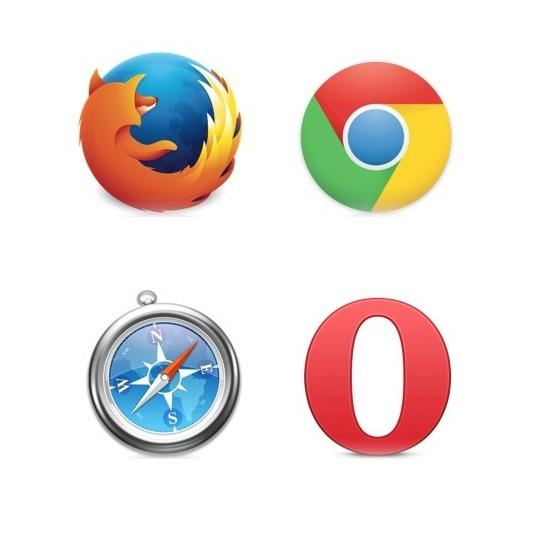Firefox, Google Chrome, Safari und Opera: Neben dem Internet Explorer die am weitesten verbreiteten Browser