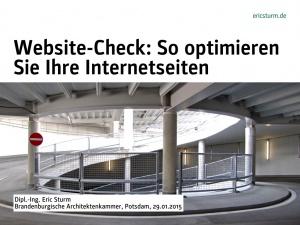Seminar in Potsdam: Website-Check – So optimieren Sie Ihre Internetseiten