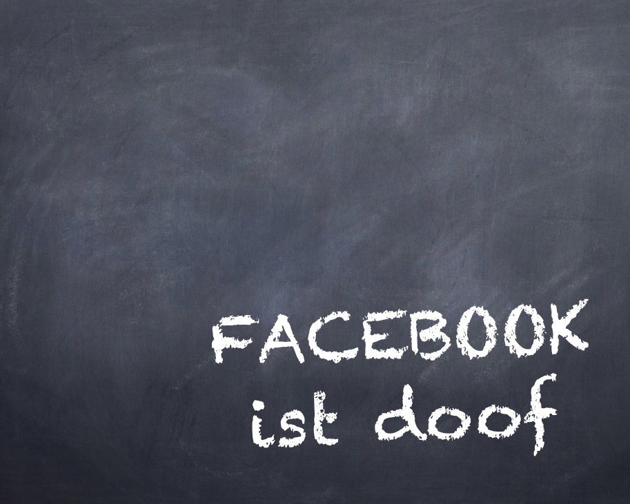 "Illustration ""Facebook ist doof"" (Internet-fuer-Architekten.de / Eric Sturm, Berlin)"