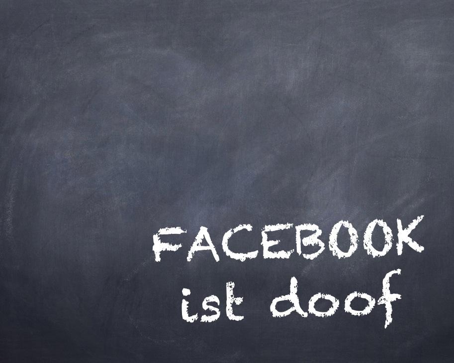 "Illustration ""Facebook ist doof"" (Internet-fuer-Architekten.de / Eric Sturm, Berlin)"