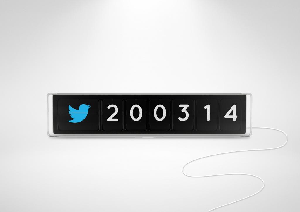 Flapit: Social Media-Counter für das Büro-Schaufenster