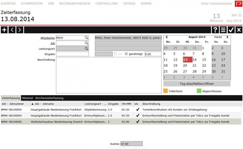 PROAD Software für Architekten und Bauingenieure (Zeiterfassung)