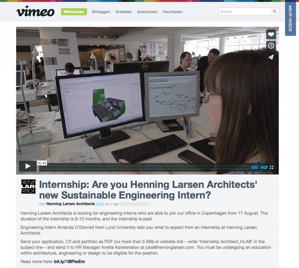 Interview-Video mit einer Praktikantin auf Vimeo