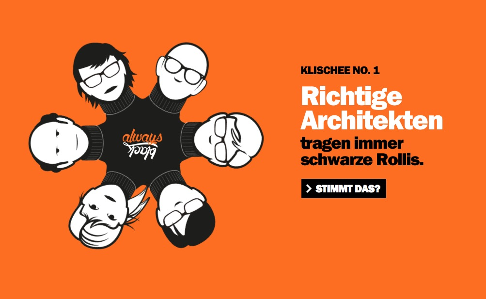 Richtige Architekten ... (Screenshot der Kampagnen-Website)