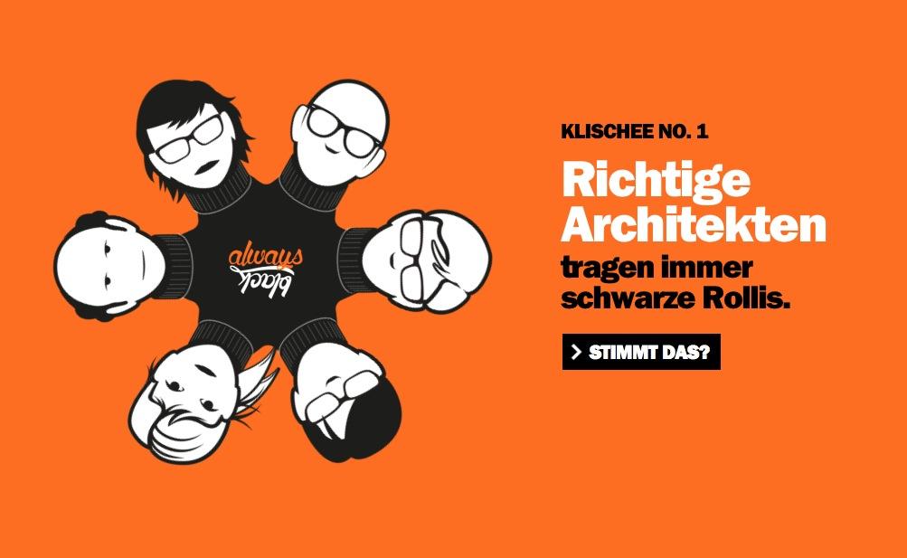 Richtige Architekten ... (Screenshot der Kampagnen-Website)