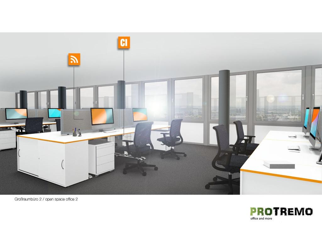 Großraumbüro-Planung