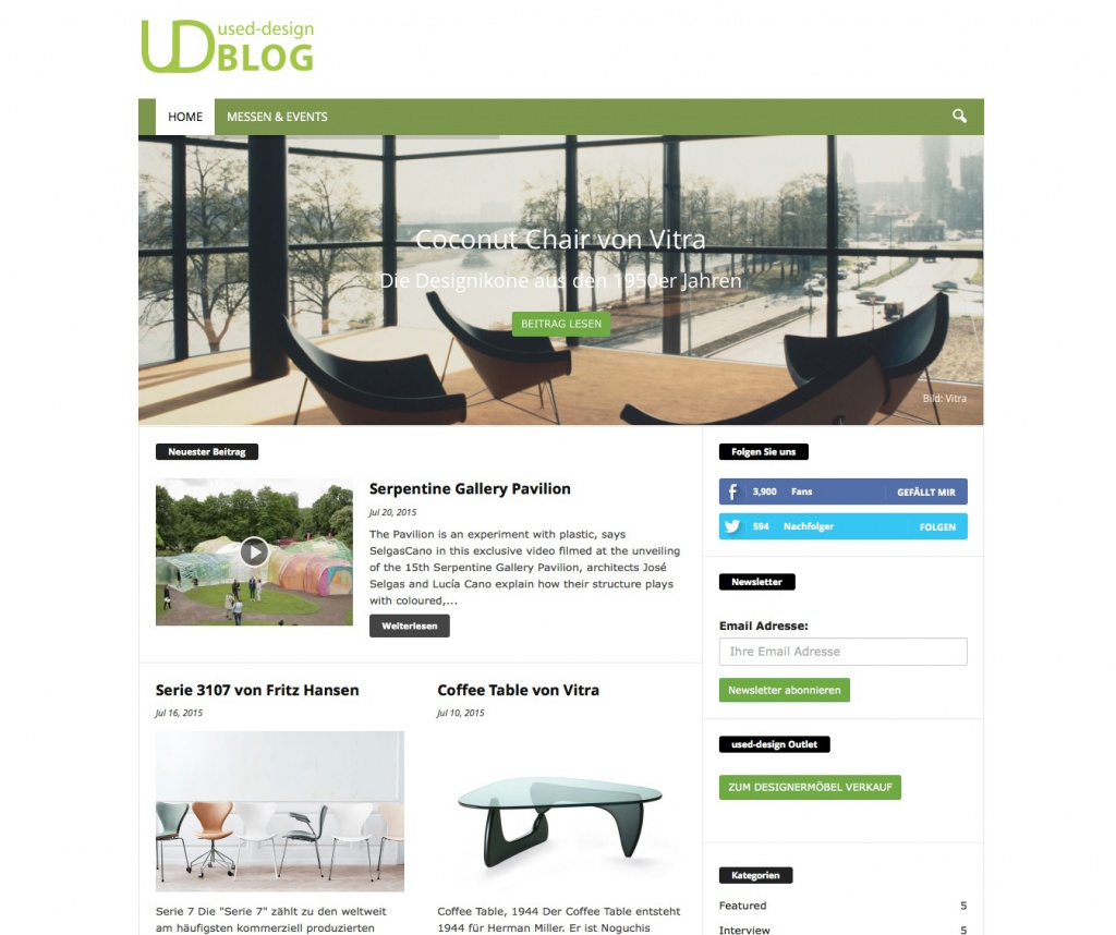 blog.used-design.com (Screenshot Juli 2015)