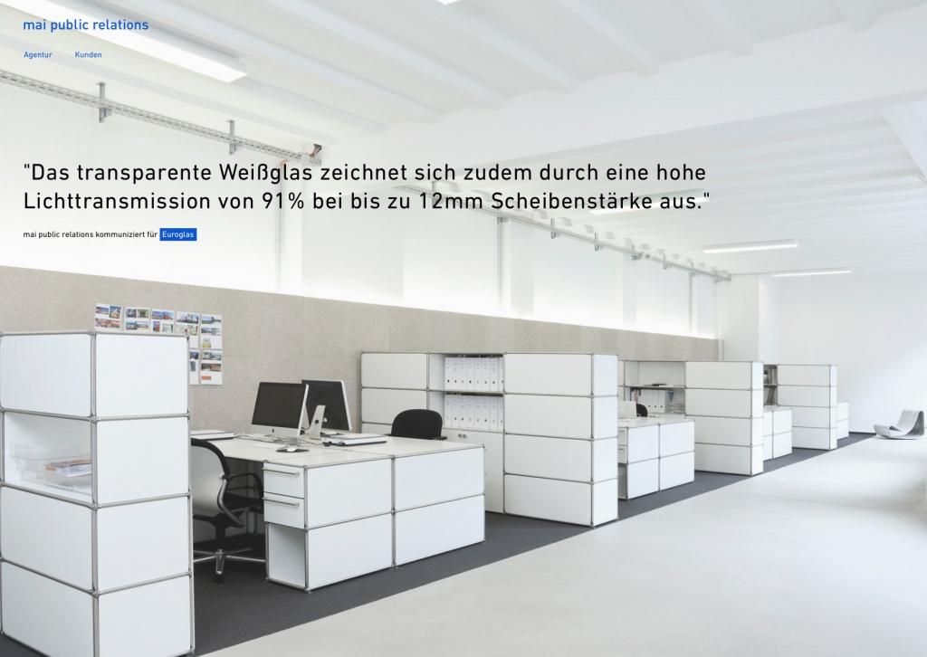 mai pr GmbH, Berlin (Screenshot der Website, August 2015)