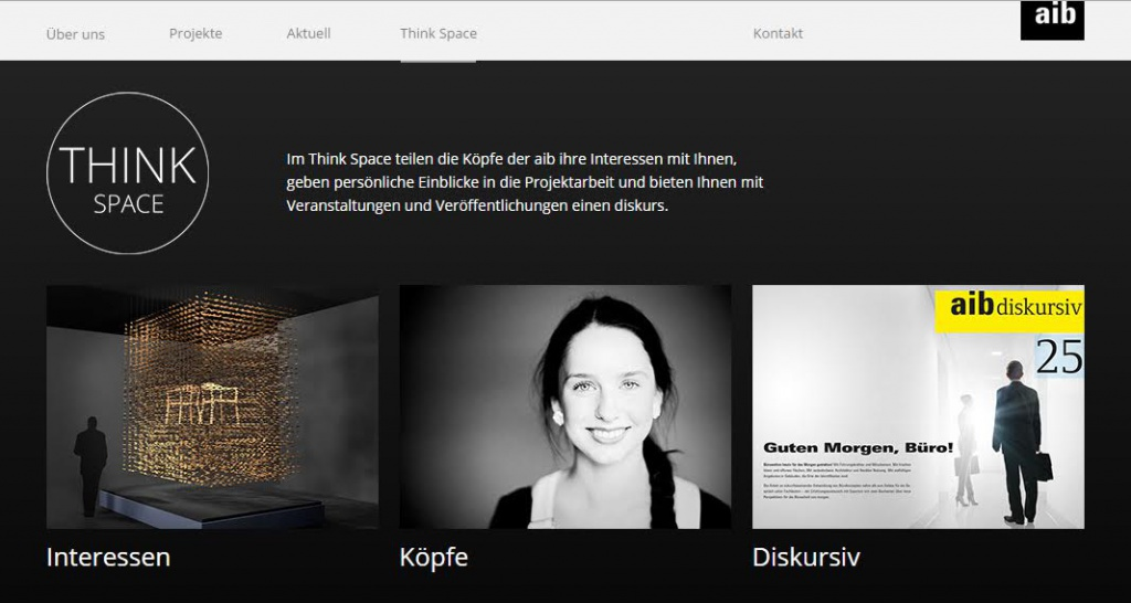 """Think Space"": Die neue, innovative Website-Rubrik des Duisburger Planungsbüros aib"