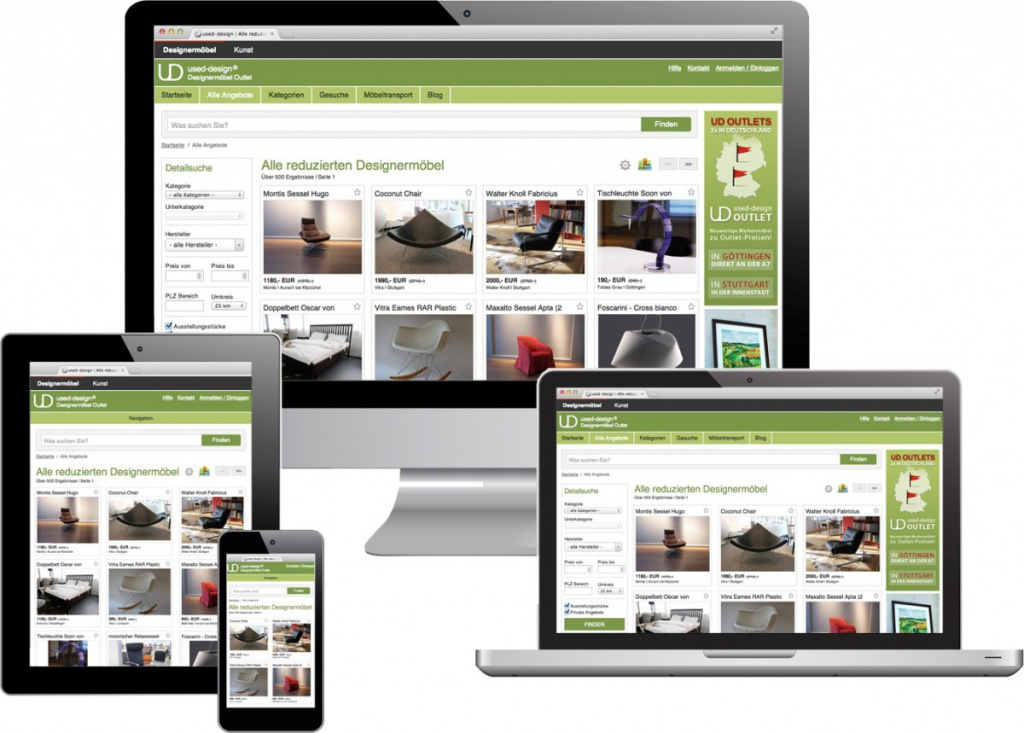 blog.used-design.com auf Tablet-PC, Smartphone, Desktop-PC und Laptop