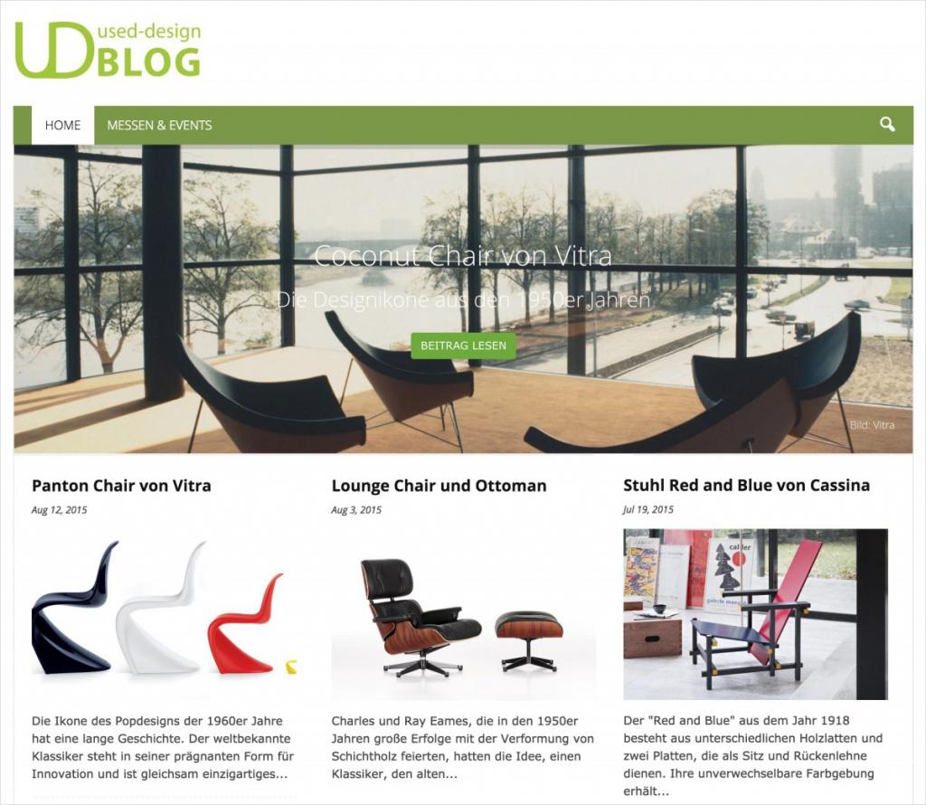 Die Startseite auf blog.used-design.com (Screenshot)