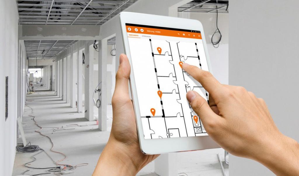 """Die App """"Baustelle 4.0"""" von Datengut im Einsatz"""