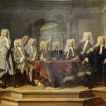 """Ausschnitt aus """"De regenten van het Aalmoezeniersweeshuis te Amsterdam"""" (Cornelis Troost, 1729)"""