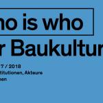Who is who der Baukultur – Neuauflage 2016