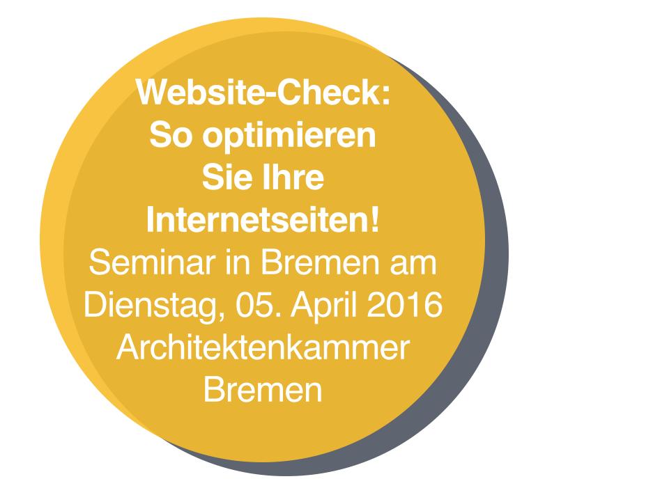 Website-Check – Optimieren Sie Ihre Internet-Seiten! (Seminar in Bremen)