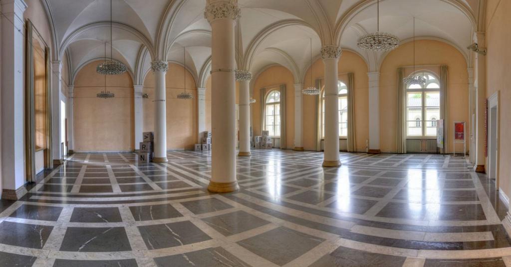Wandelhalle in der Bayerischen Staatsbibliothek in München