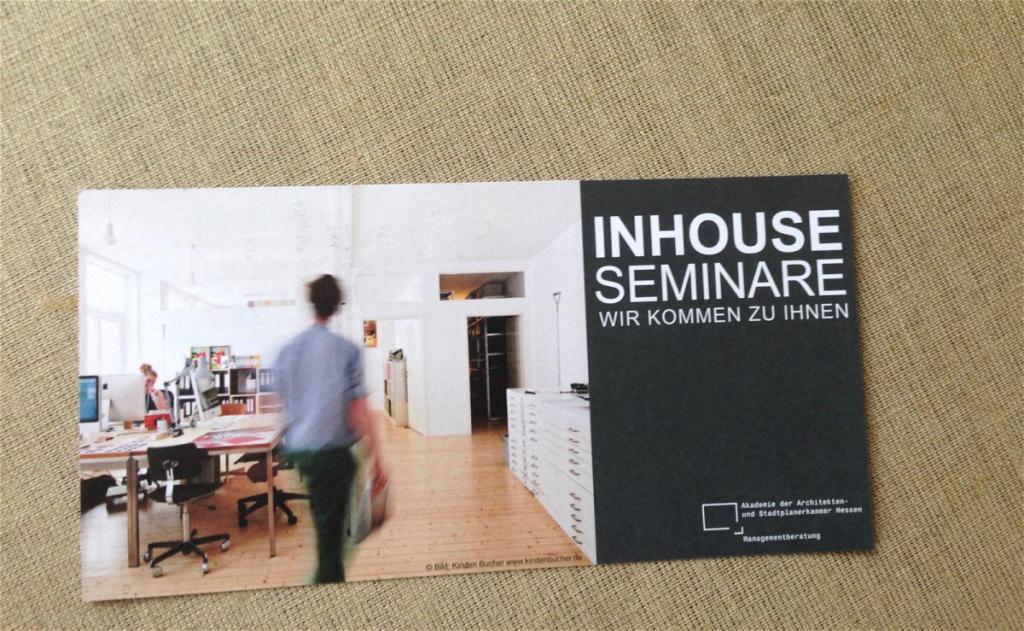 Inhouse-Seminare der Architektenkammer Hessen (DIN lang Flyer)