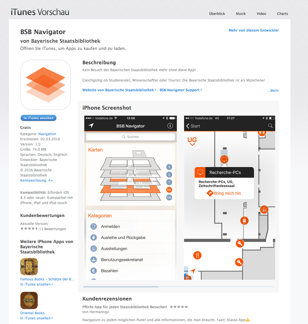 per smartphone app durch die bayerische staatsbibliothek. Black Bedroom Furniture Sets. Home Design Ideas