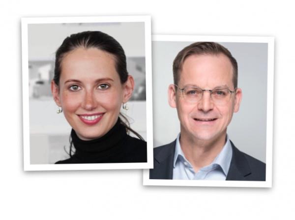 Die Dozenten: Barbara Hallmann und Eric Sturm
