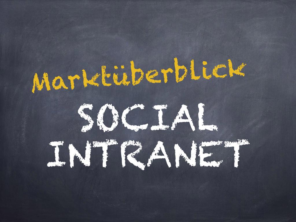 markt berblick social intranets b romanagement via browser. Black Bedroom Furniture Sets. Home Design Ideas