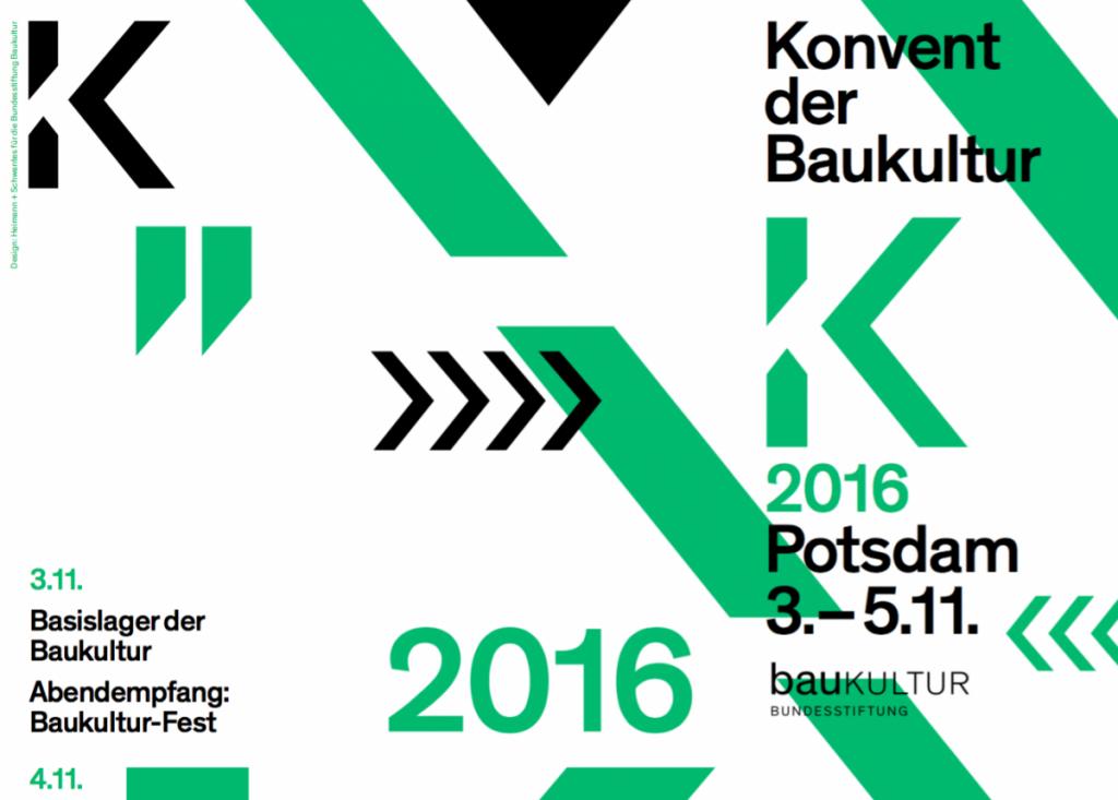 Konvent der Baukultur 2016 (Ausschnitt aus  dem Programmflyer, Design: Heimann + Schwantes, Berlin)