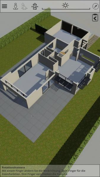 Etagenansicht im ArchVizViewer als 3D-Grundriss auf dem Smartphone