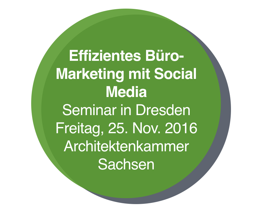 Seminar in Dresden: Effizientes Büro-Marketing mit Social Media