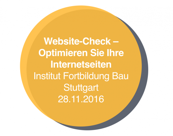 Website-Check für Architekten / Seminar am 28.11.2016 in Stuttgart