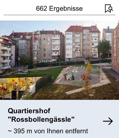Architekturführer Baden-Württemberg: Objektsuche und Ergebnisse (Ausschnitt; Screenshot: FUF.de)