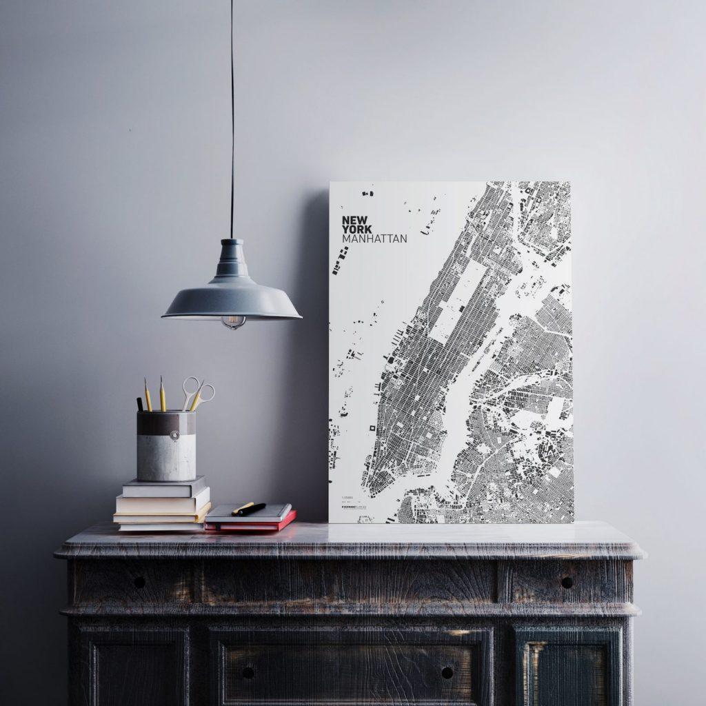 """""""Urban Footprint"""" von New York (Bild: SCHWARZPLAN.EU)"""