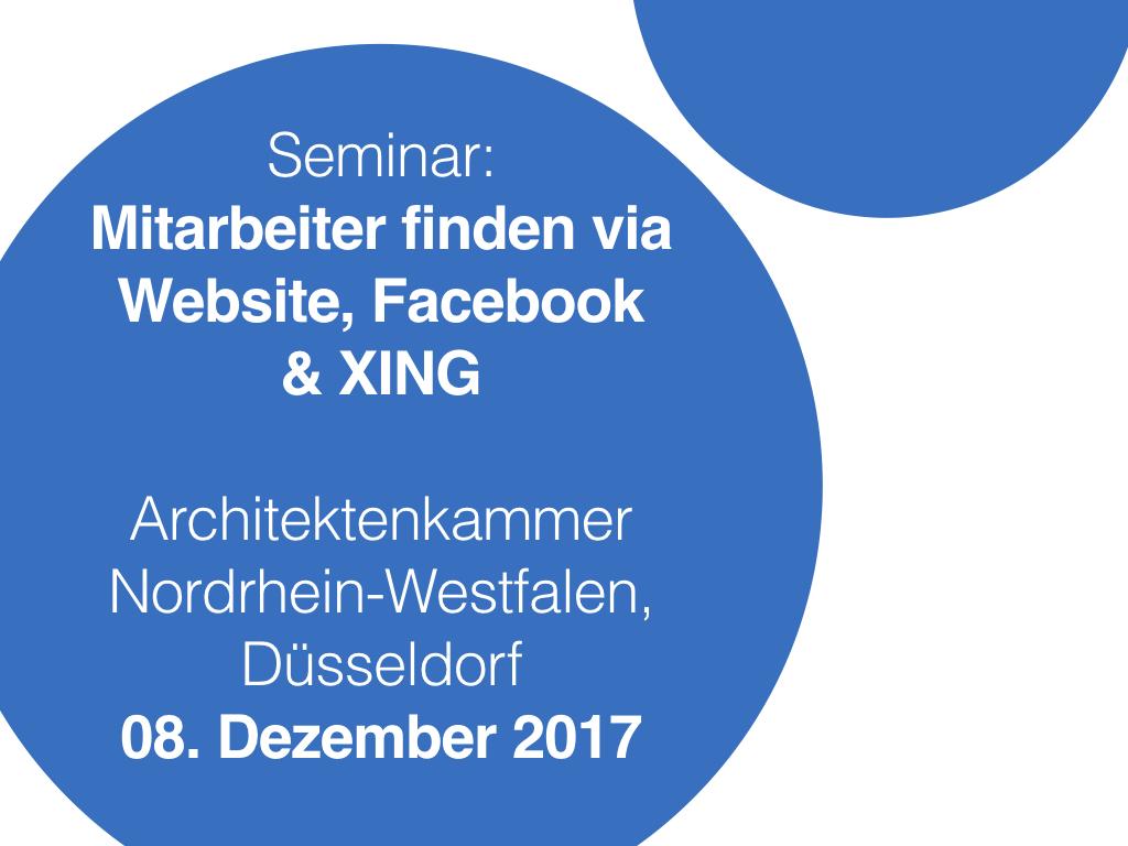 Architektenkammer Düsseldorf seminar zur personalgewinnung architekten in düsseldorf