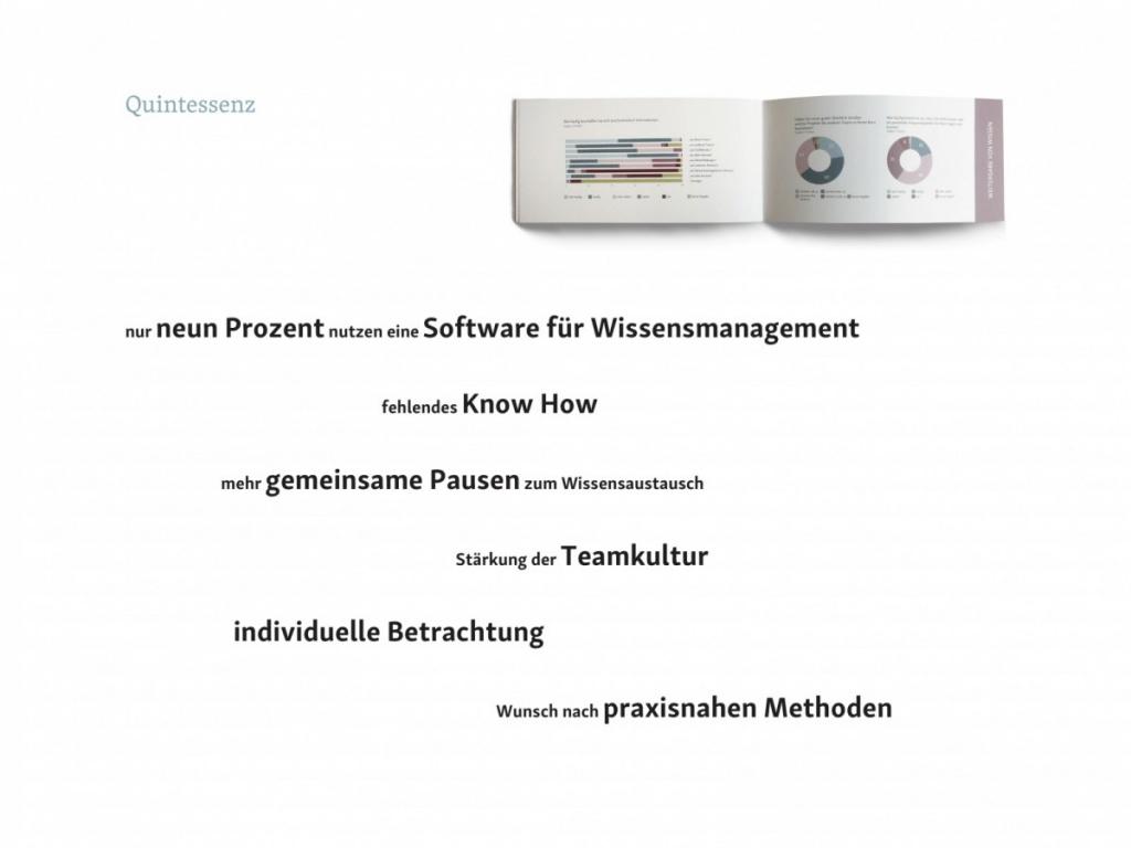 Abb. 4 - Quintessenz der Studie (Gastbeitrag: Wissensmanagement in Architekturbüros; Abbildung: Saskja Jagenteufel)