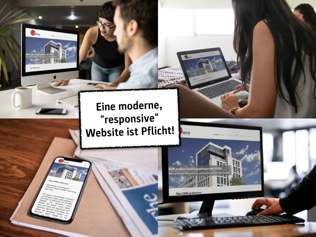 """Website-Check: """"Eine responsive Website ist Pflicht!"""" (Folie aus dem Seminar von Eric Sturm)"""