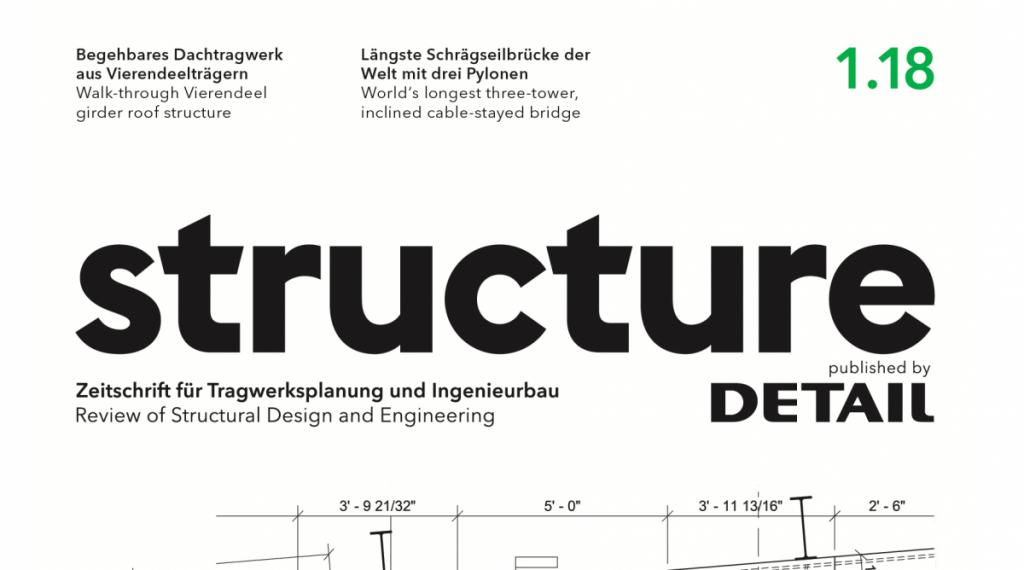structure – Zeitschrift für Tragwerksplanung und Ingenieurbau (Cover der Ausgabe 1/2018, Ausschnitt)