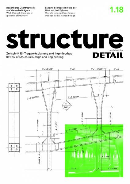structure – Zeitschrift für Tragwerksplanung und Ingenieurbau (Cover der Ausgabe 1/2018)