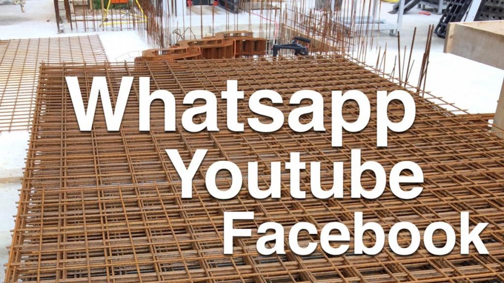 Bei den befragten Bauunternehmern spielt Facebook nur noch eine untergeordnete Rolle (Collage: Internet-fuer-Architekten.de)